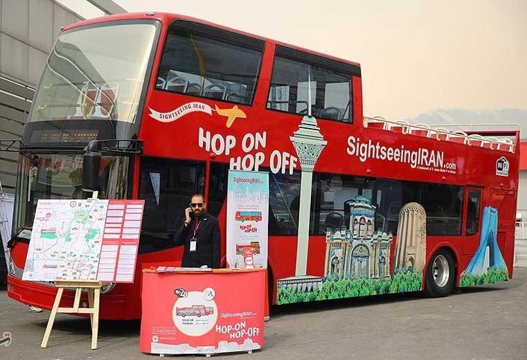 ورود اولین اتوبوس دو طبقه گردشگری به تهران، برای انجام تورهای ویژه گردشگری