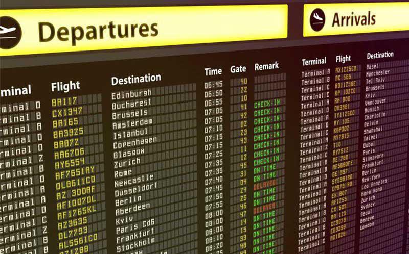 بررسی آنلاین وضعیت لحظه ای پروازهای داخلی و خارجی